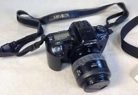 RARE VG Minolta Maxxum HTsi 35mm SLR Film Camera Body 35/70 Lens Bag Manual