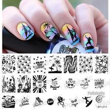 Nail Art Stamping Plate Image Template Summer Beach Sea Theme  BP-L017