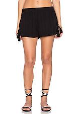$47 Band Of Gypsies Tassle Shorts Black Elastic Waist Pull On Sz Small Jr  8567