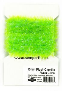 Semperfli 15mm Plush Translucent Chenille UV Fleck - ideal for blobs and lures