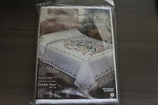 "Tobin Tree of Life Cross Stitch Quilt Stamped for Embroidery 90"" by 103"" NEW"