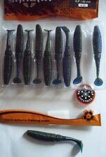 Leurres souple pêche mer rivière Sakura Slit Shad 85 Junebug