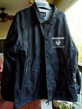 RAMONES Authentic VINTAGE NYLON JACKET with Fleece Polyester Liner. Size LARGE