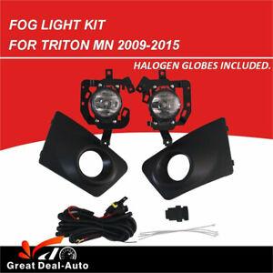 Full Set Fog Light Spot Driving Lamp KIT For Mitsubishi Triton MN Ute 2009~2015