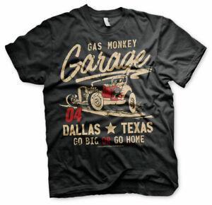 Official Licensed Gas Monkey Garage (GMG)- Go Big Or Go Home Men's T-Shirt S-3XL