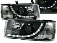Headlights LED DRL Look for VW T4 90-03 TRANSPORTER Daylight Black LHD LPVW84-ED