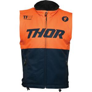 Thor MX Warmup Vest (Midnight Blue / Orange) Choose Size