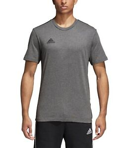 Adidas Men's Core 18 Climalite Fitness Tee Grey Size Small CV3983