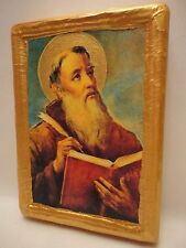 Saint Lawrence San Lorenzo Rare Roman Catholic Religious Icon Art on Real Wood