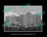 OLD POSTCARD SIZE PHOTO WASHINGTON DC USA VIEW OF THE SHOREHAM HOTEL c1915