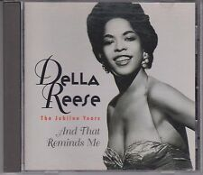 DELLA REESE And That Reminds Me Jubilee Years 1996 Collectors Choice Rhino CD