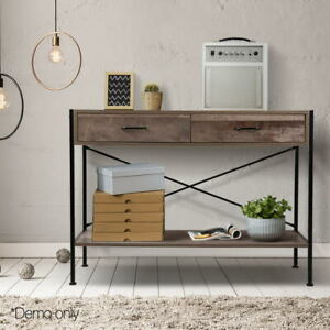 Artiss Wooden Hallway Console Table Entry Side Display Desk Industrial Wood