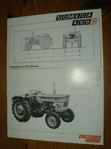 Prospectus Tracteur FIAT SOMECA 450 N  1972 Prospekt Tractor Traktor Trattore