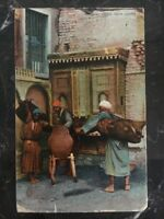1908 Shepherds Hotel Cairo Egypt Picture Postcard Cover To Los Angeles Ca Usa