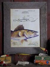Fishing Lure Patent  Poster Art Print Vintage 11x14 Creek Chub Bass Fish  PAT389