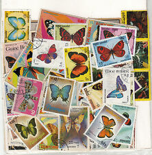 """BUTTERFLY"" Theme wise CTO stamps pack of 100 Different ~~ Rare Theme"