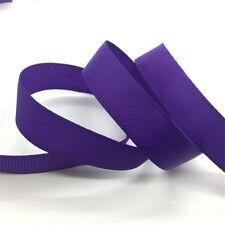 "5yds 3/8"" 10mm Solid Color Grosgrain Ribbon Bow Wedding Decoration DIY Sewing CA"