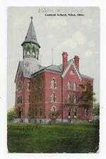 1914 NILES OHIO Central School Post Card #569