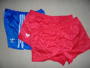 3x vintage Adidas Erima Nylon shorts glanz sport hose 80s oldschool sports L