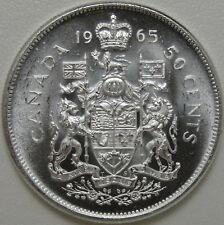 1965 50C Canada 50 Cents, BU, UNC, Canadian Half Dollar, Silver, #10943