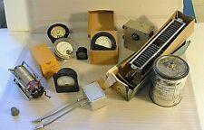 Vintage Lot of Gauges Condenser Misc Electronics & Ham Radio Equipment 11 pcs