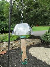 "Squirrel Baffle  11-1/4"" Clear Plastic Dome To Protect Bird Feeder Seed And Suet"