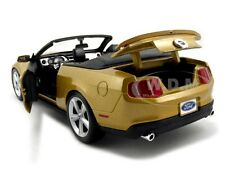 2010 FORD MUSTANG GT CONVT. GOLD 1:18 DIECAST MODEL CAR BY MAISTO 31158