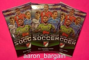 3 2016 Topps MLS Major League Soccer Pack Lot Auto/Black/Printing Plate/22/RC??