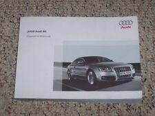 2009 Audi S5 Quattro Factory Original Owner's Owners User Manual Book