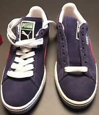 fc3a893930be4e PUMA Classic Crown Navy Blue   Red Suede SNEAKERS Women s Size 6 M