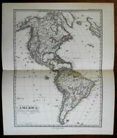 North & South America both continents 1875 Stulpnagel Stieler map