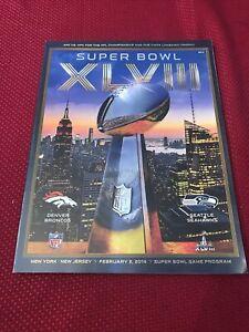 2014 Super Bowl XLVIII 48 Official Programs Seattle Seahawks Denver Broncos