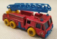 Vintage Matchbox Fire Engine with Ladder and Yellow Wheels Made in Thailand 1982
