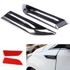 2X SUV Auto Seitenabdeckung Dekoriert 3D Vent Luftstrom Kotflügel Aufkleber DIY