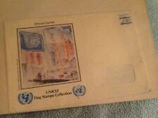 UNICEF FLAG STAMPS COLLECTION ORIGINAL ENVELOPE