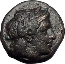 OLYNTHOS in MACEDONIA for CHALKIDIAN LEAGUE 432BC Apollo Lyre Greek Coin i49241