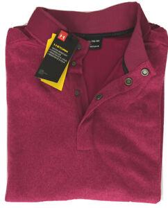 Under Armour Men L/S Storm Weather Resistant Shirt XL Red 1329832 635