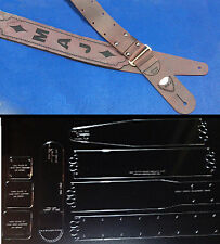 """2-1/2"""" GUITAR STRAP TEMPLATE SET - NEW STYLE BACK STRAP  FOR LEATHER CRAFTERS"""