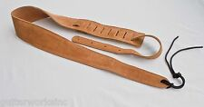 Guitar Strap TAN SUEDE Fits All Acoustic & Electrics Made In USA Since 1978