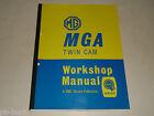 Manuale D'Officina Manuale Riparazione Workshop Manuale MG A Mga Doppio Cam