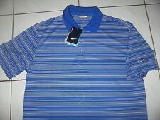 NEW NIKE Golf SHIRT Polo Men Size L *Dri-Fit **Royal Blue Stripe
