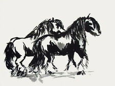 Brush Painting Gypsy Horses 2 ~ Gypsy Vanner , Cob cards