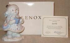 Lenox Sparkle Lady Snowman Figurine in Box with Coa