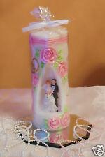 Hochzeitskerze,Traukerze mit Brautpaar!Hochzeitsgeschenk