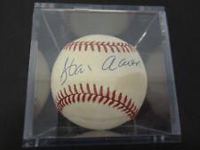 Hank Aaron Atlanta Braves signed autographed official Nl baseball w/case Coa