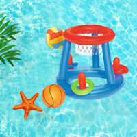 Kids Inflatable Floating BasketBall Hoop Ring Toss Game Swimming Pool Toy Funny