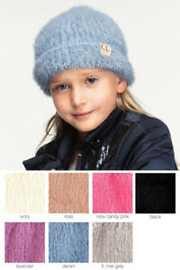 ScarvesMe CC Children Kids Girl Boy Ages 2-7 Soft Fuzzy Thick Stretchy Beanie