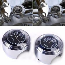 Montre Horloge Guidon et Thermomètre pour moto YAMAHA Harley