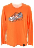 ADIDAS Mens Graphic Top Long Sleeve Medium Orange Cotton  N203
