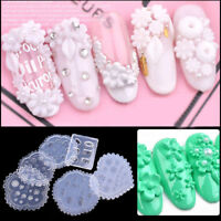 1pcs Silicone Flowers Mould Daisy Rose Leaves DIY Manicure Mold 3D Nail Art Tool
